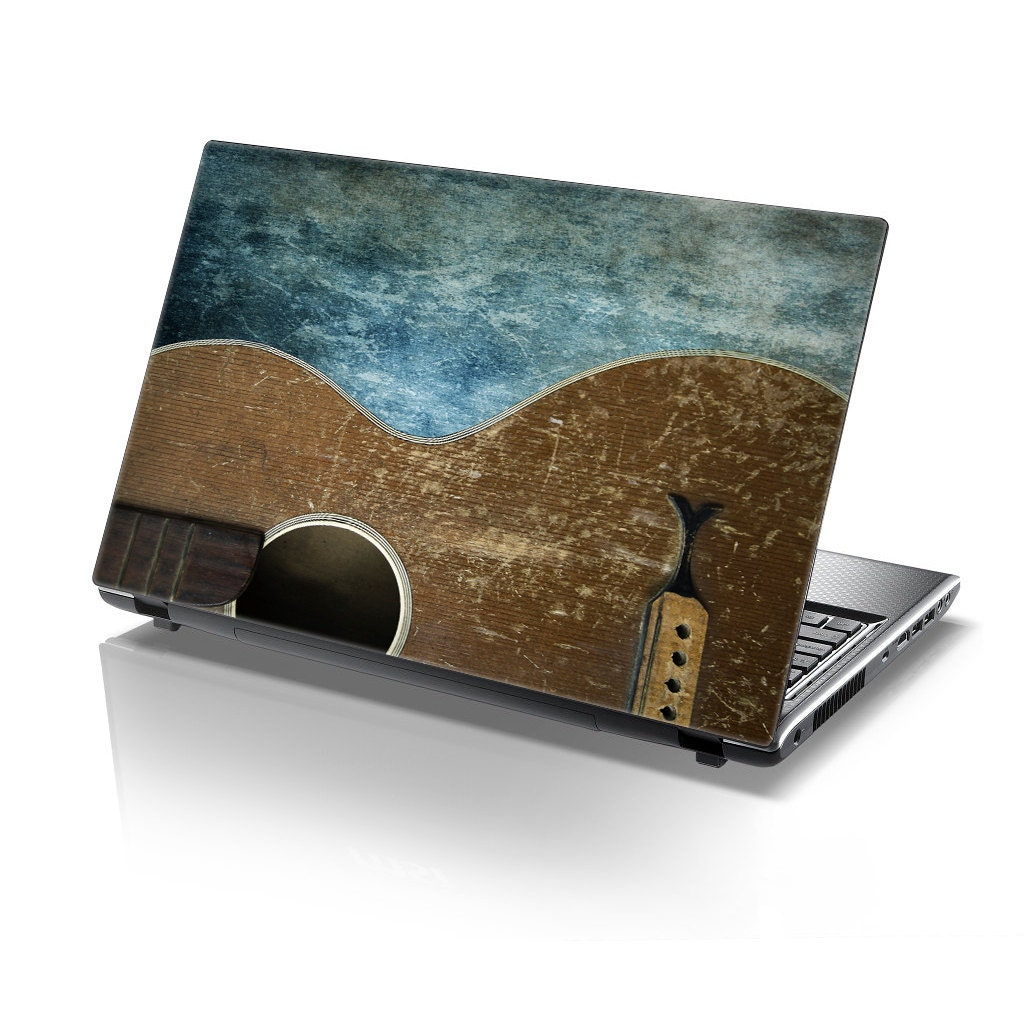 TaylorHe Laptop Skin Sticker Weathered Guitar