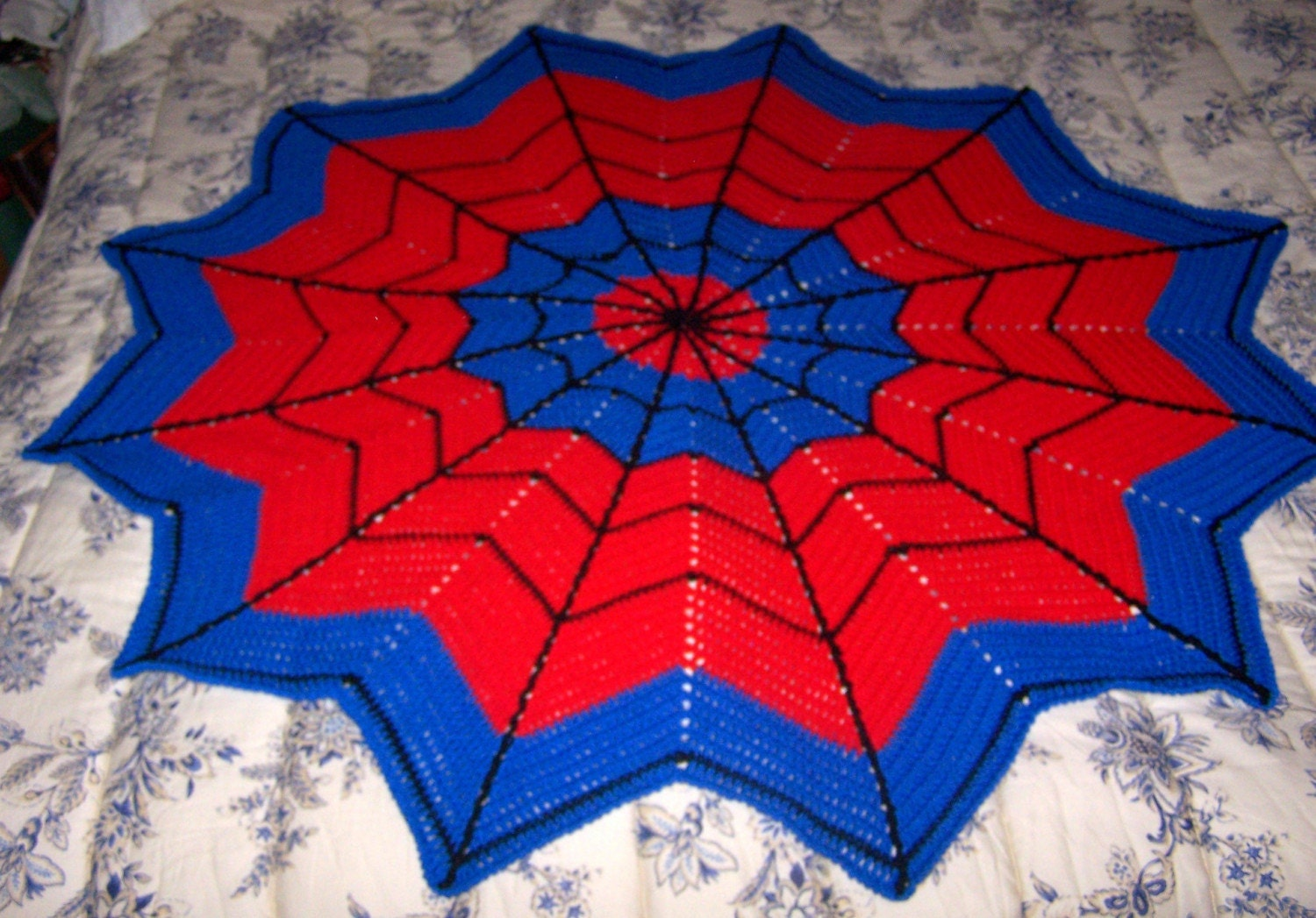 SpiderMan 66 inch Crocheted Afghan by CraftedFromTheHeart ...