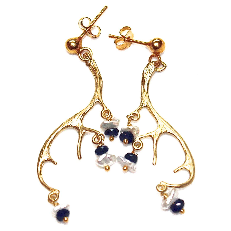 items similar to antler earrings deer earrings woodland
