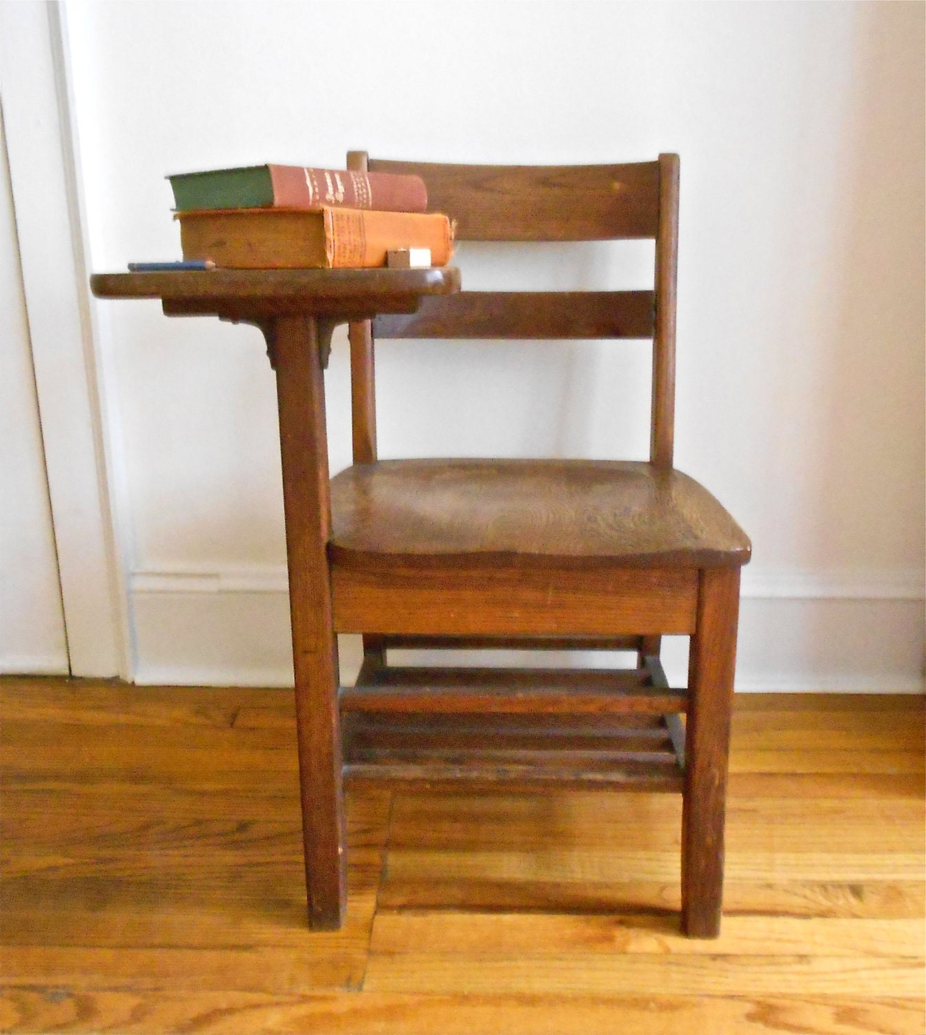 vintage high school classroom desk and chair combo by bakerinva