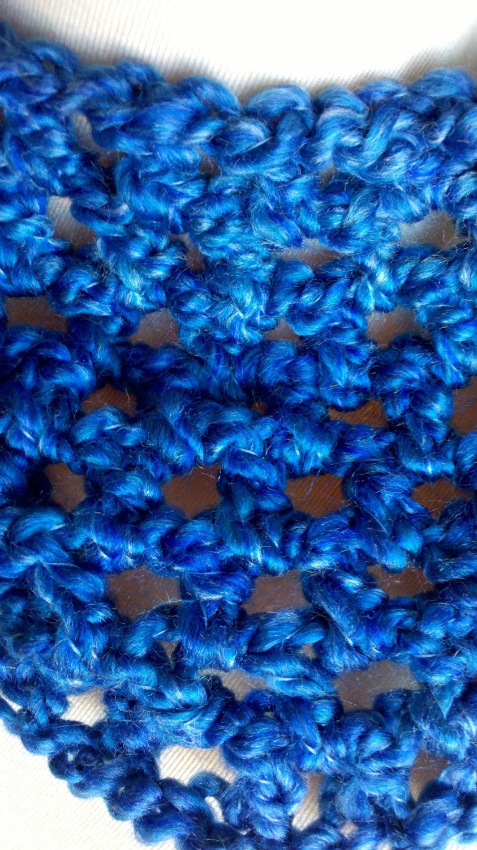 Infinity Headband - Ear Warmer - Evening Sky Blue - READY TO SHIP - GrandmasCrochetCotta