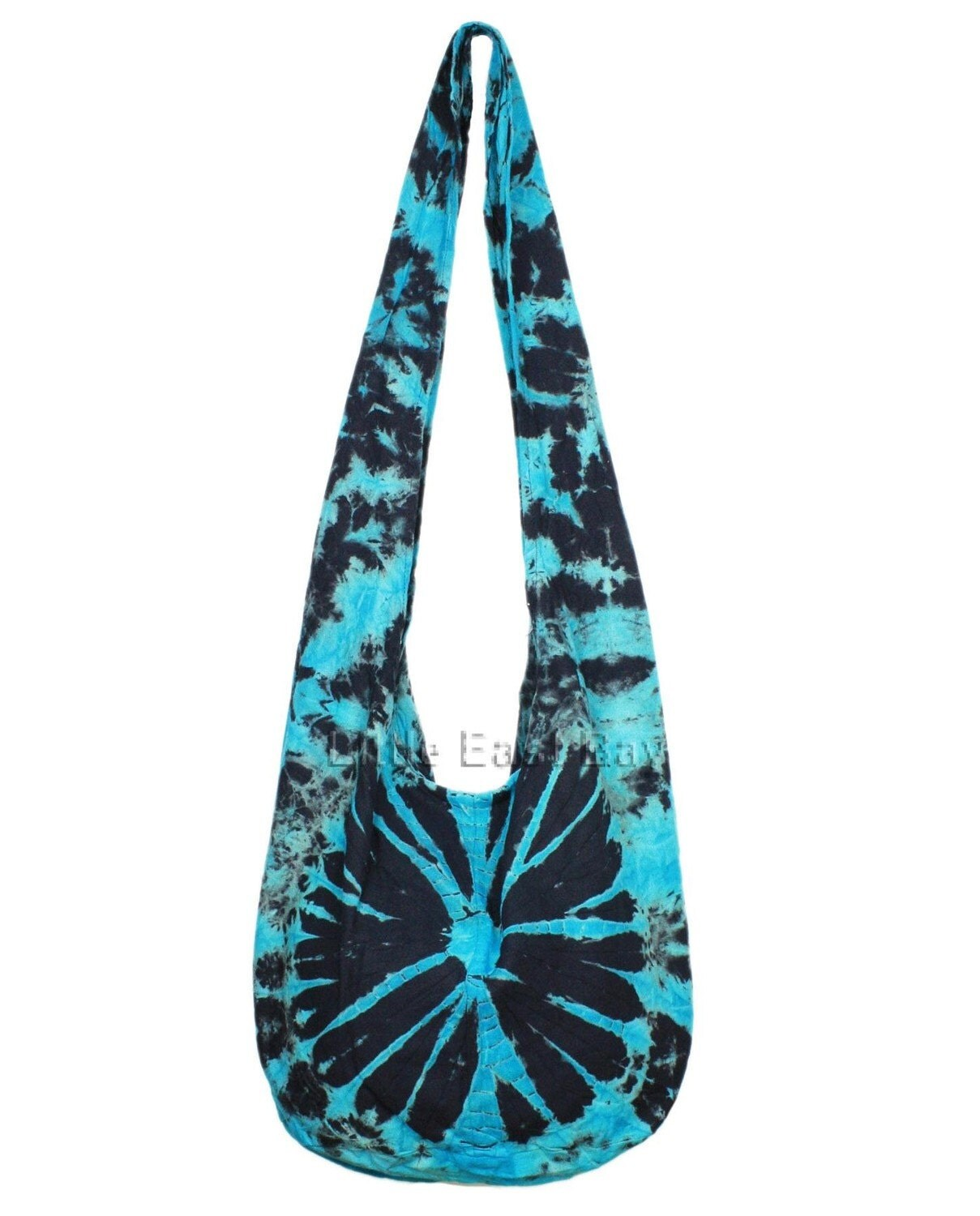 Free Hobo Purse Pattern : TURQUOISE BLACK SPIDER Hippie Hobo Tie Dye Sling by LittleEastBay