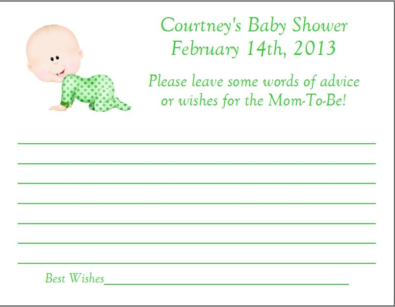 items similar to 24 personalized advice cards baby shower on etsy