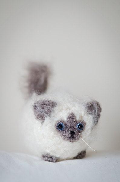 Cute Mystery Ragdoll Kitten Amigurumi Cat Kawaii  Amigurumi Ragdoll Kitten Crochet  OOAK