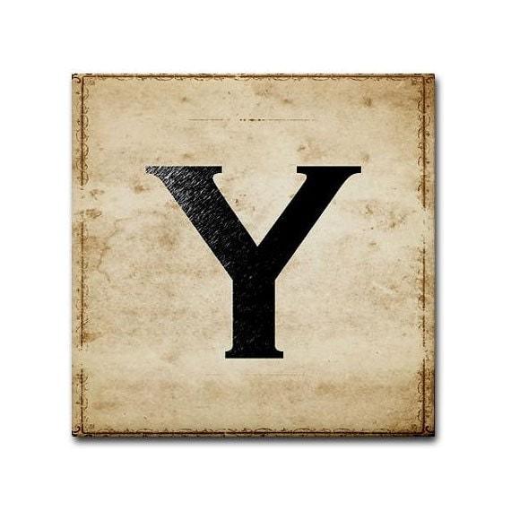 Letter Y - TintPress
