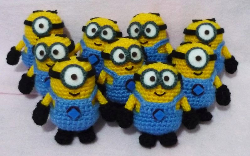Crochet Mini Minions from Despicable Me set of 9 by ...