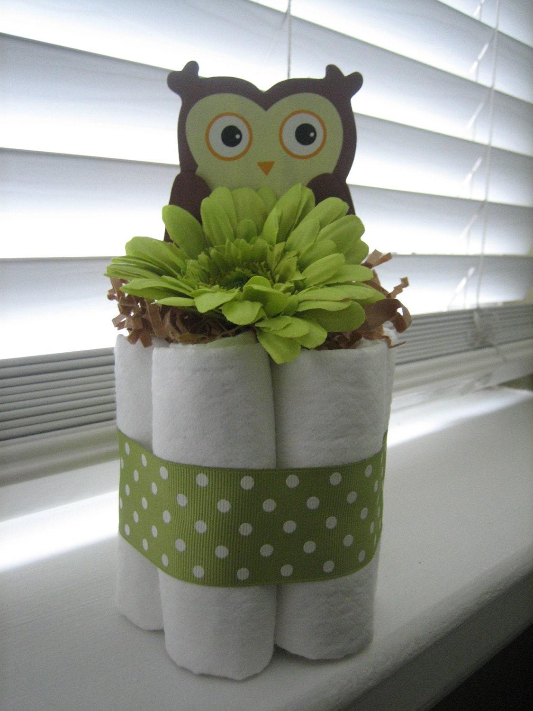 Etsy Owl Diaper Cakes