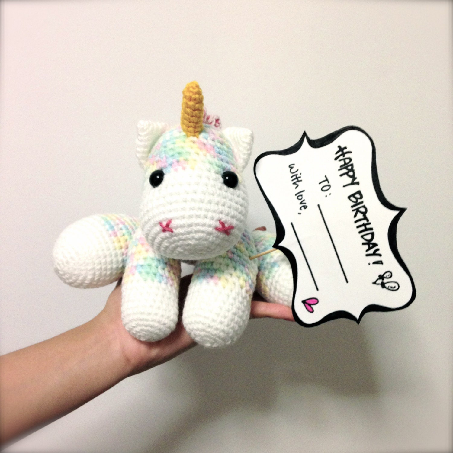 Crochet Unicorn Doll : ... to Christmas Gift Amigurumi Unicorn Crochet Doll Home Decor on Etsy