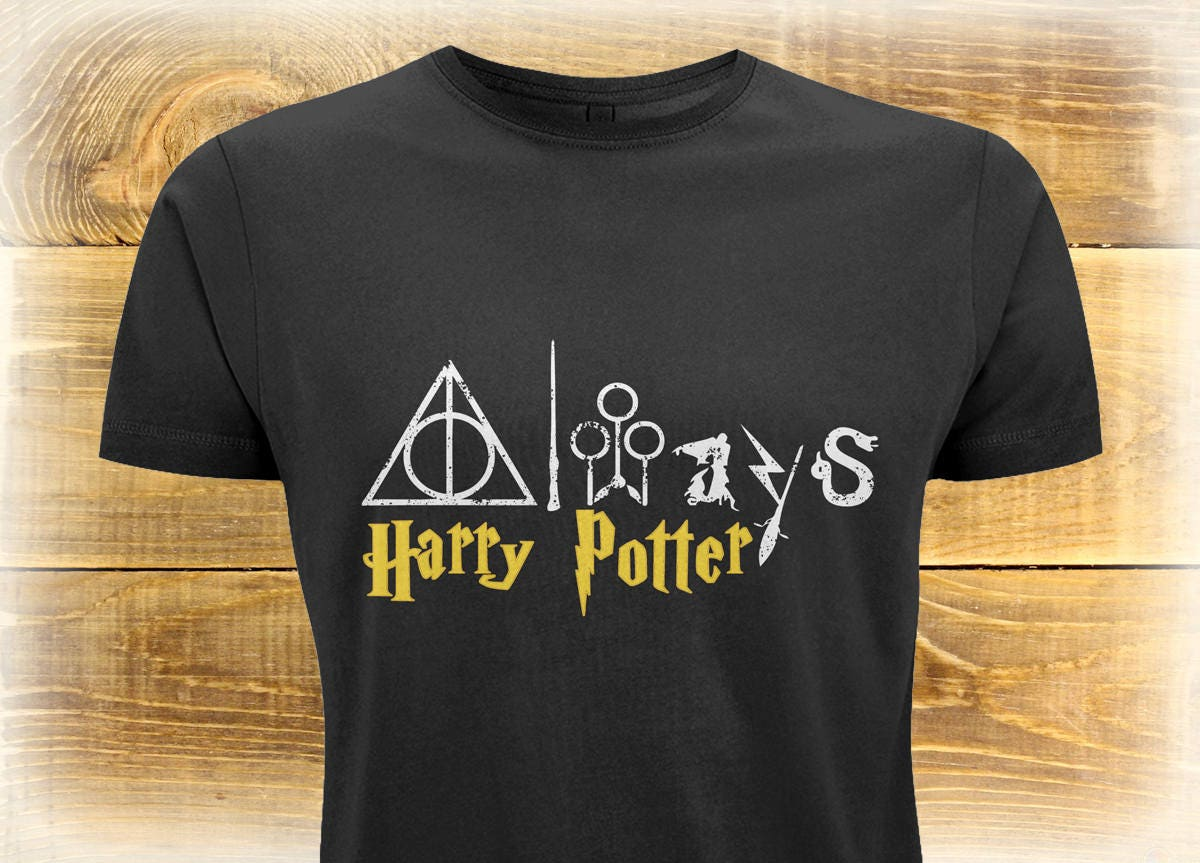Harry Potter Deathly Hallows Tshirt Harry Potter Shirt Adult Harry Potter Tee Perfect Potterhead Gift Birthday Gift Idea For Him Or Her