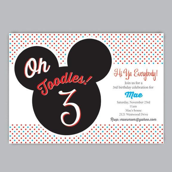 Mickey & Minnie Invitations with perfect invitation sample