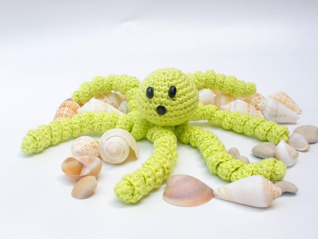 Amigurumi Knit Patterns Easy : Octopus PDF Knitting Pattern Crocheted Octopus Pattern by ...