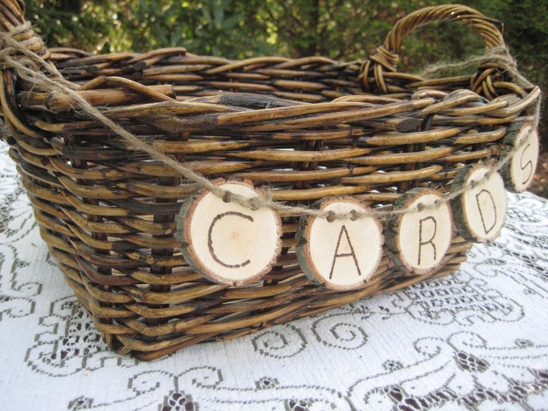 Rustic Wedding Decor Large Card Basket by YourDivineAffair on Etsy