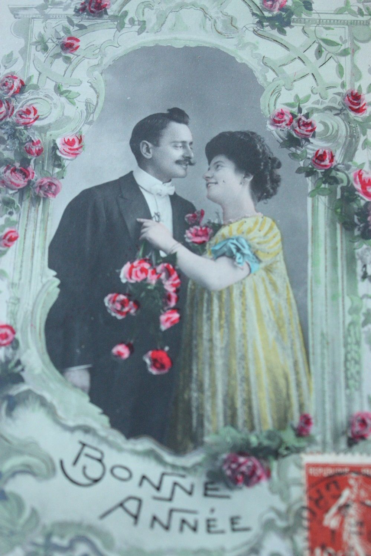 С Новым Годом Французской Vintage Открытка - Bonne Année