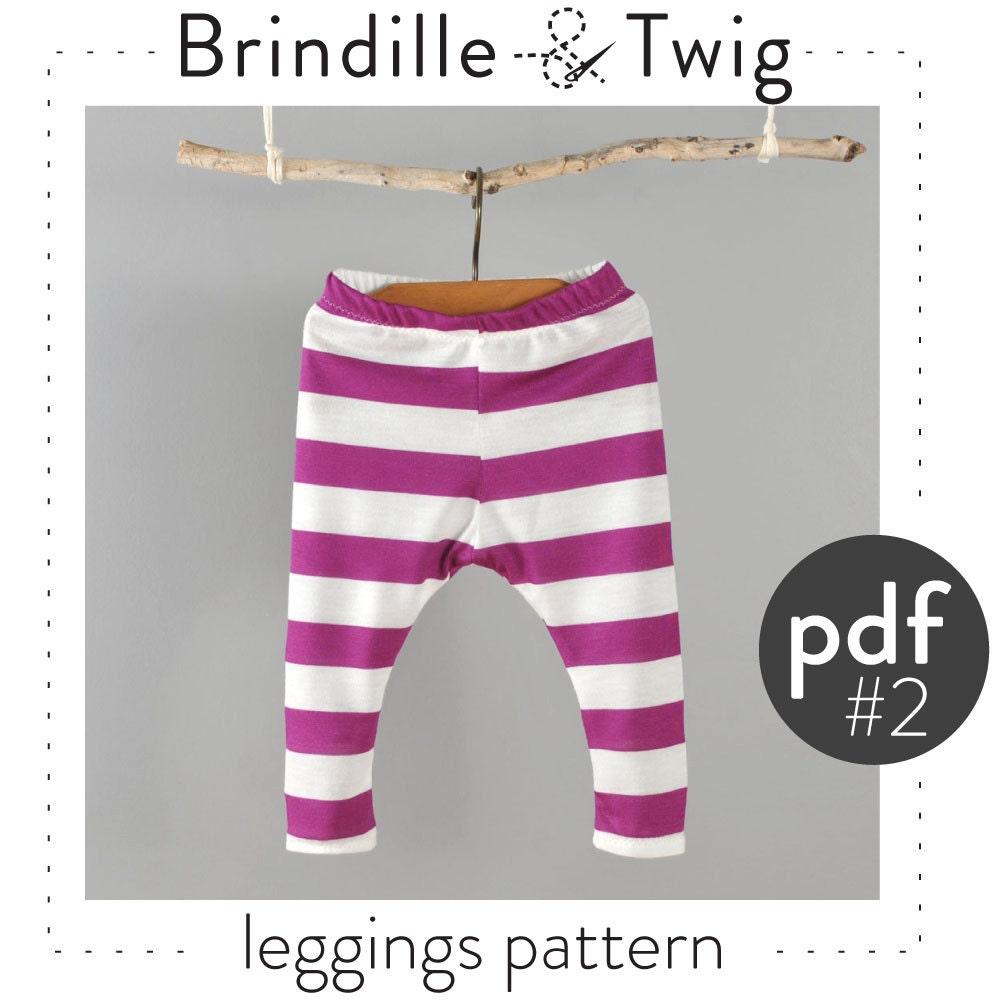Baby leggings pattern pdf instant download by brindilleandtwig