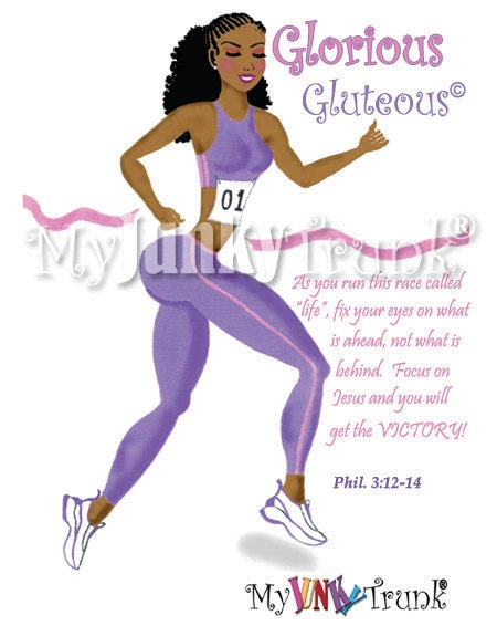 Glorious Gluteous- African American Fitness Print