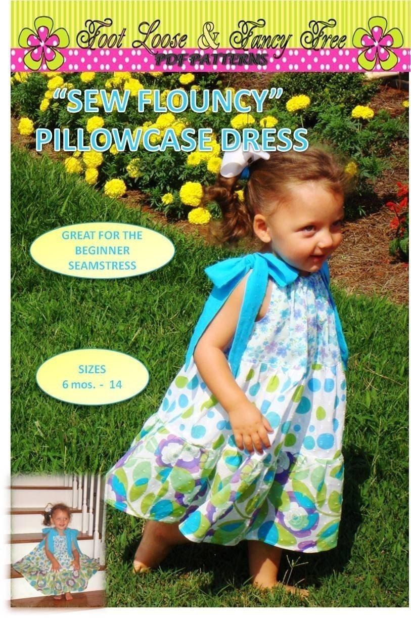 Girl's Dress PDF Sewing Pattern - Super Twirly Tiered Dress Sizes 1-5