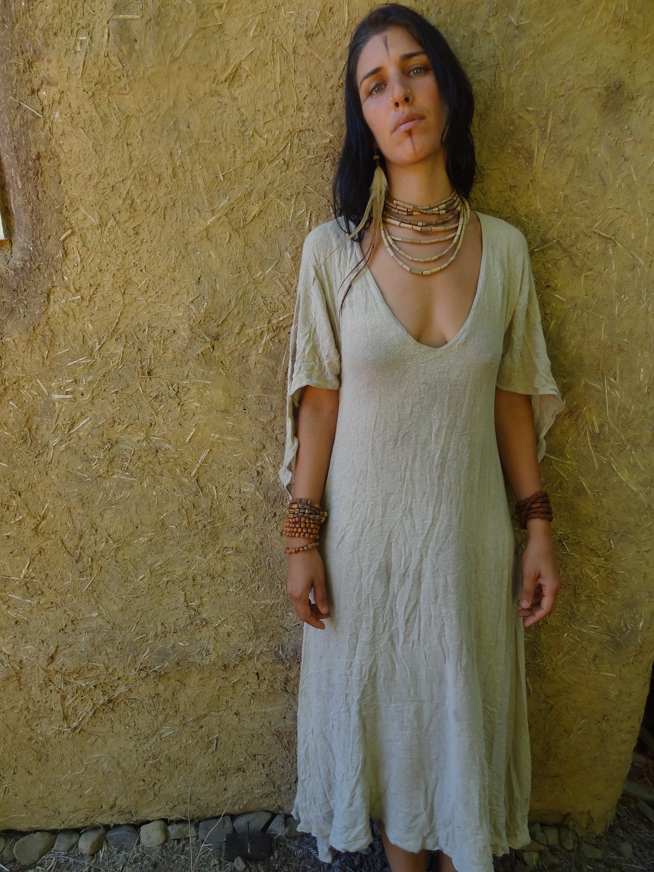Raw Silk Vintag Style Dress - PrimitiveTribalCraft