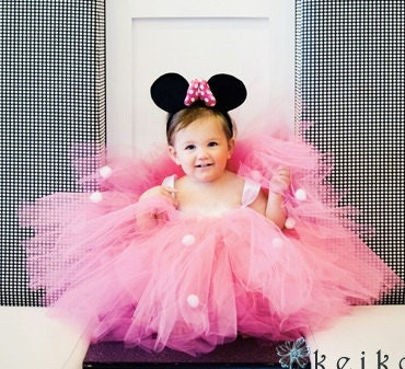 ... Party Themed Little Baby Girls Tutu Dress, Complete with Mouse Ears