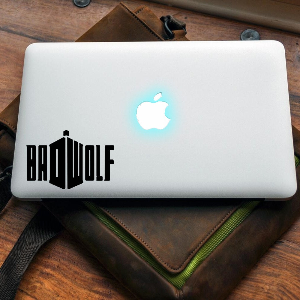 Badwolf decal for MAC or PC sticker print perfect gift for any computer fan! Doctor Who Rose Tardis Apple