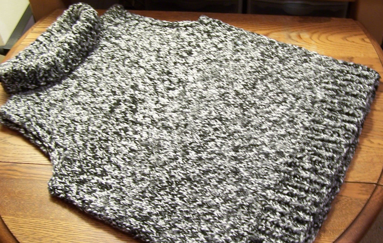 Sleeveless Cardigan Knitting Pattern : Knitting Pattern for Womans sleeveless Turtleneck by katebarkley