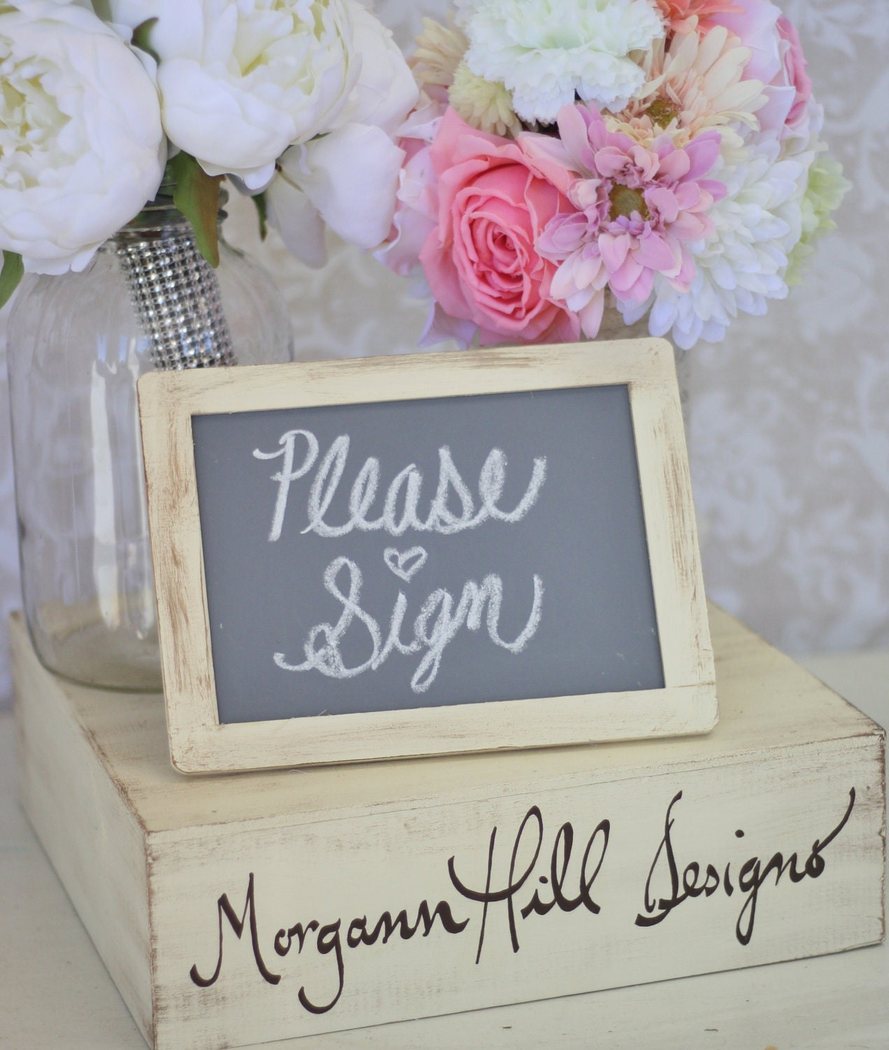 Rustic Wedding Chalkboard Signs Shabby Chic Decor (item P10007) - braggingbags