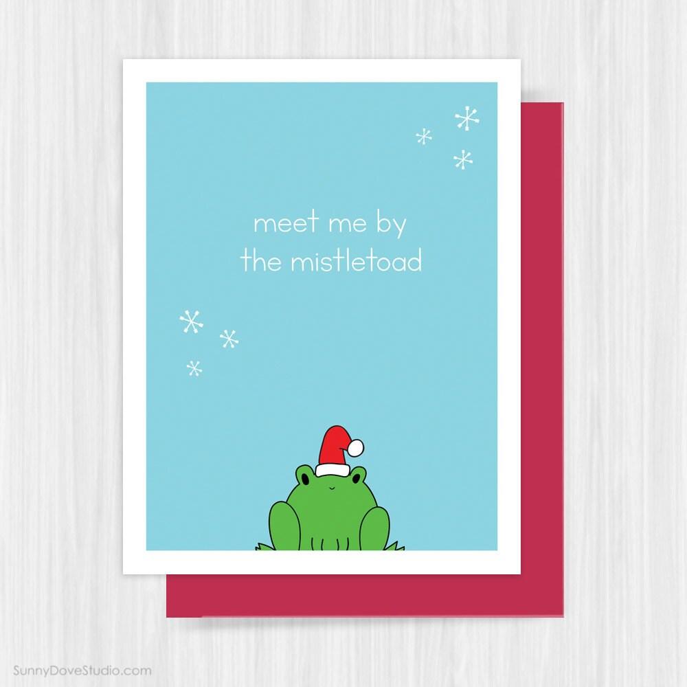 Funny Christmas Card For Boyfriend Girlfriend By Sunnydovestudio