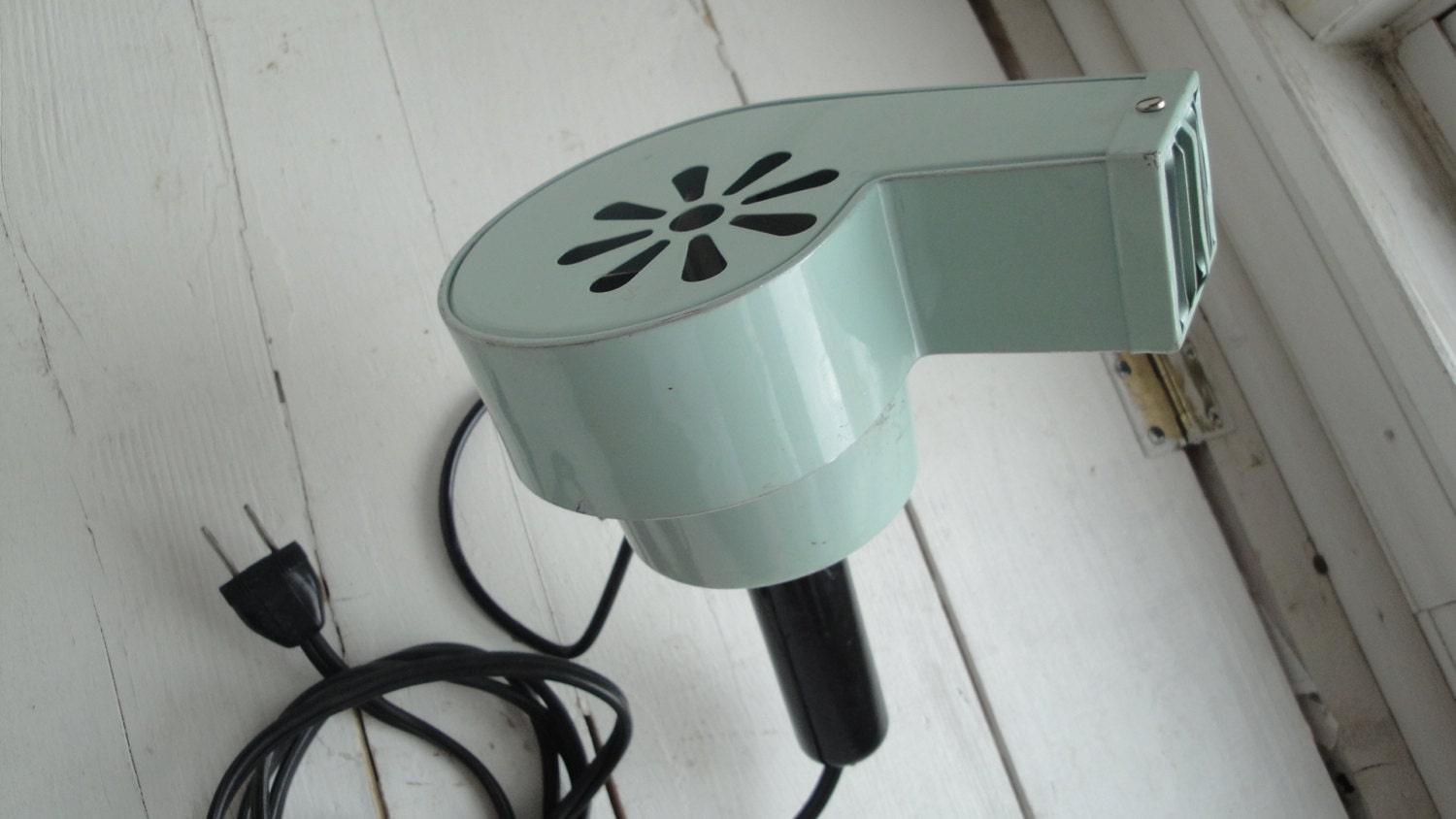 50s Baby Blue Hair Dryer Le John With Stand By Craftysara