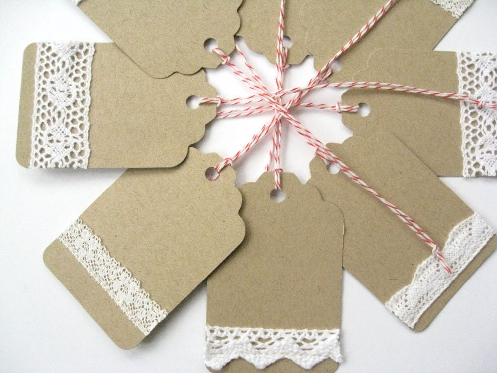 How To Make Wedding Gift Tags : ... handmade gift tags - Wedding favor tags, holiday gift tags on Etsy