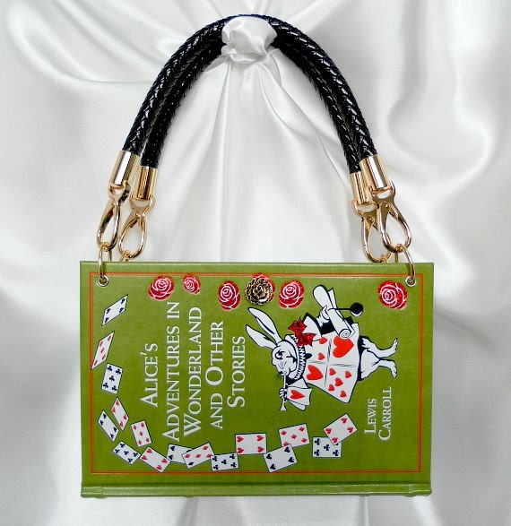 Alice in Wonderland Book Handbag UK  Alice Book Bag  Alice in Wonderland Book Clutch  Alice in Wonderland Purse