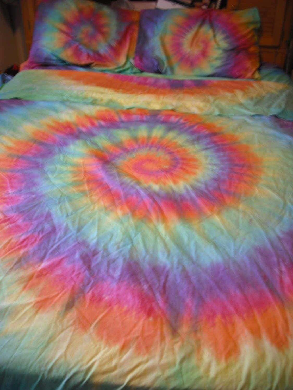 tie dye bed sheet set sale by doyoudreamoutloud on etsy