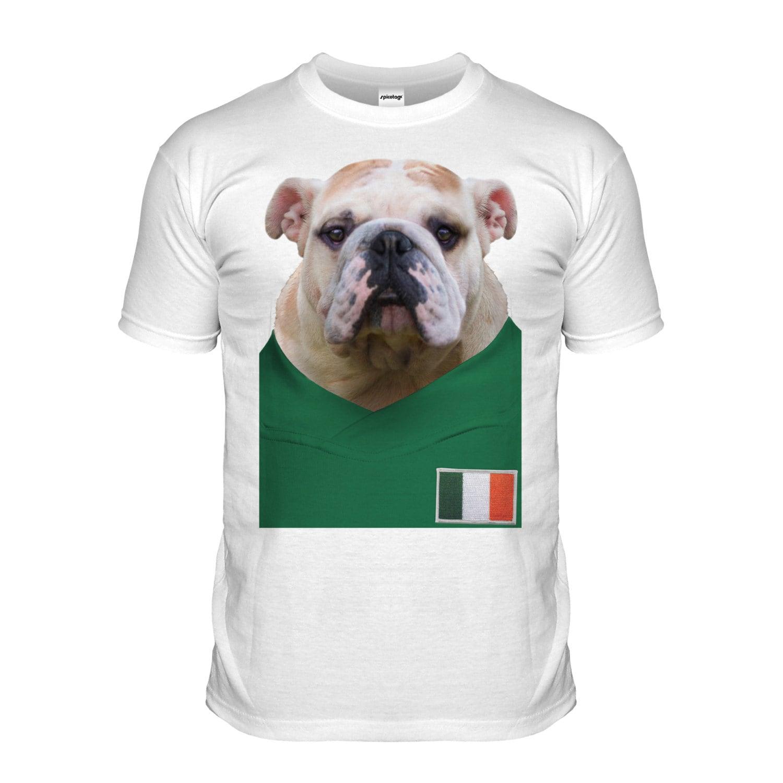 Ireland Football Bulldog Tshirt Irish Bull Dog T shirt Puppy 2016 European Tee