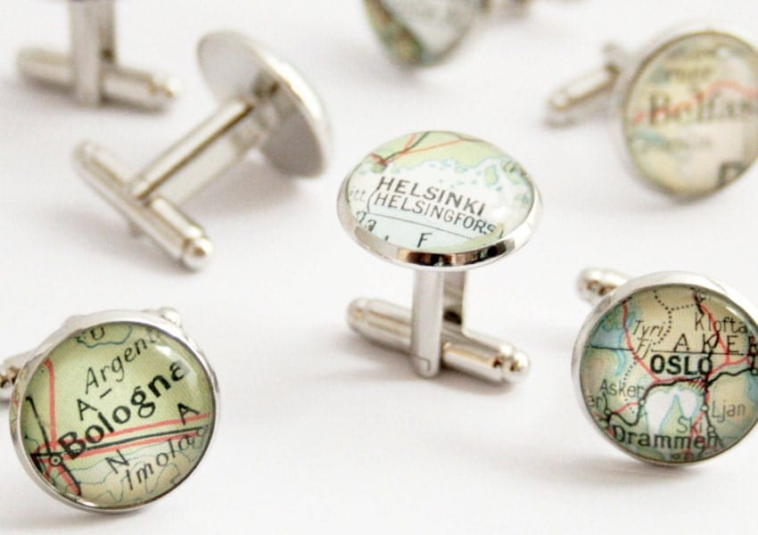 Custom map Cuff links 9 SETS Groomsmen gift Customized map cufflink Personalized destination weddings mens accessories Groomsmen favors