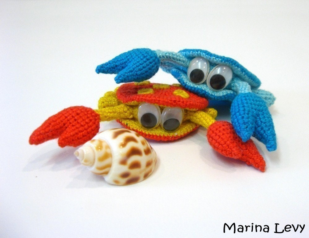 Rupert the Crab Amigurumi - Marina Levys Handmade Crafts