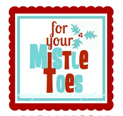Gratifying image for for your mistletoes printable