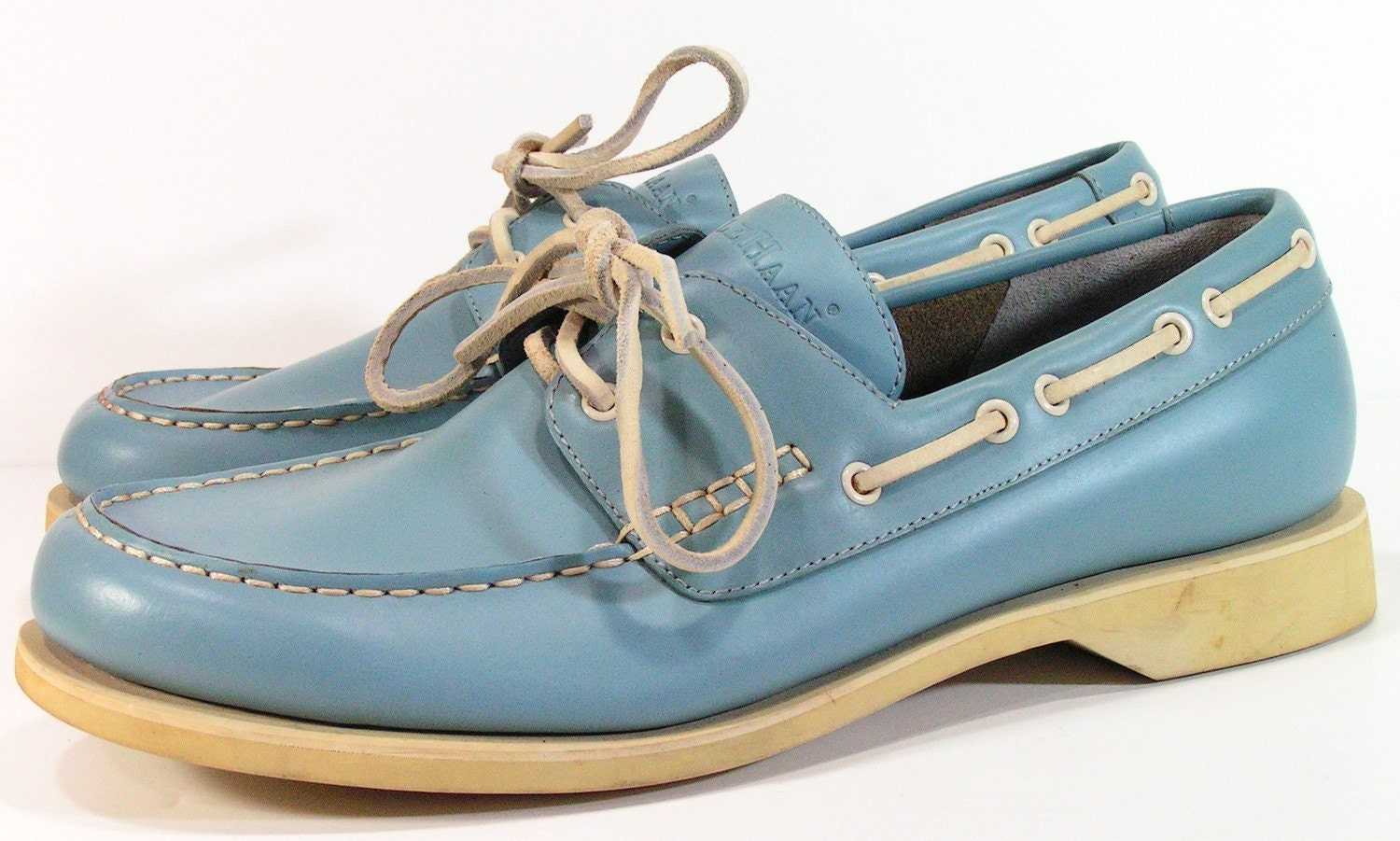 cole haan boat shoes mens 11 D M baby blue by