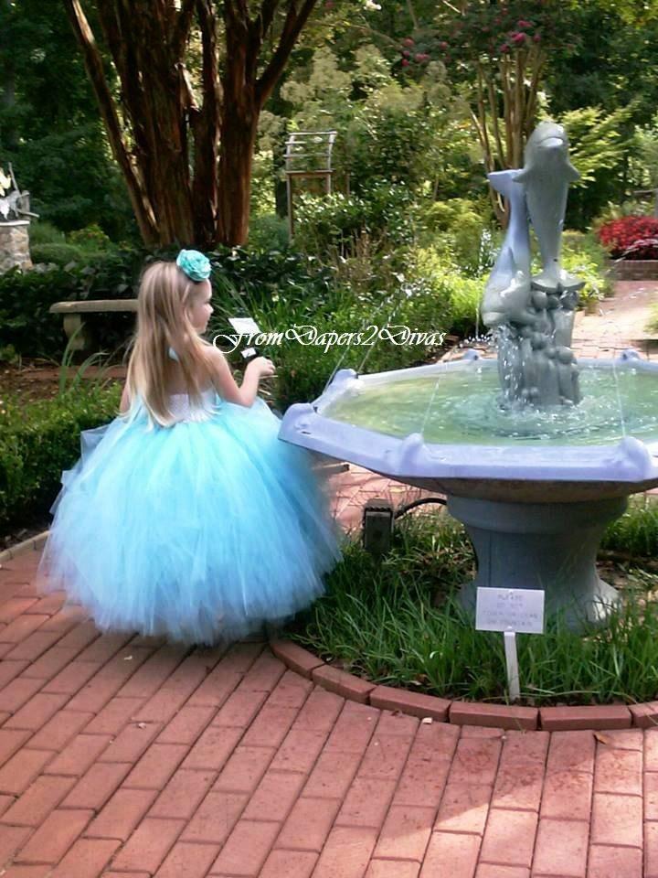 Tiffany Blue Flower Girl Aqua Flower Girl Tutu Dress  All Sizes This Listing - FromDiapers2Divas