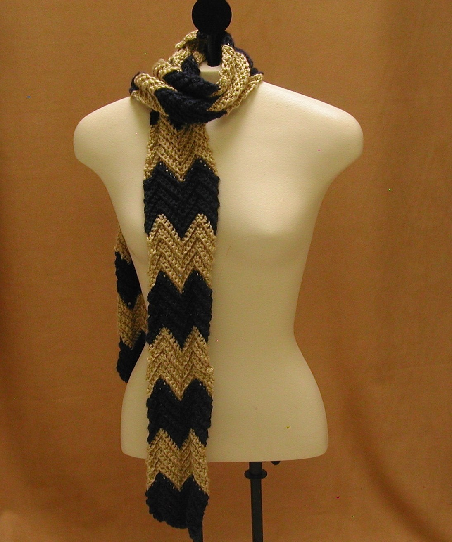 Crochet Zig Zag Scarf : Items similar to Crochet Chevron Scarf Zig Zag Long Skinny on Etsy