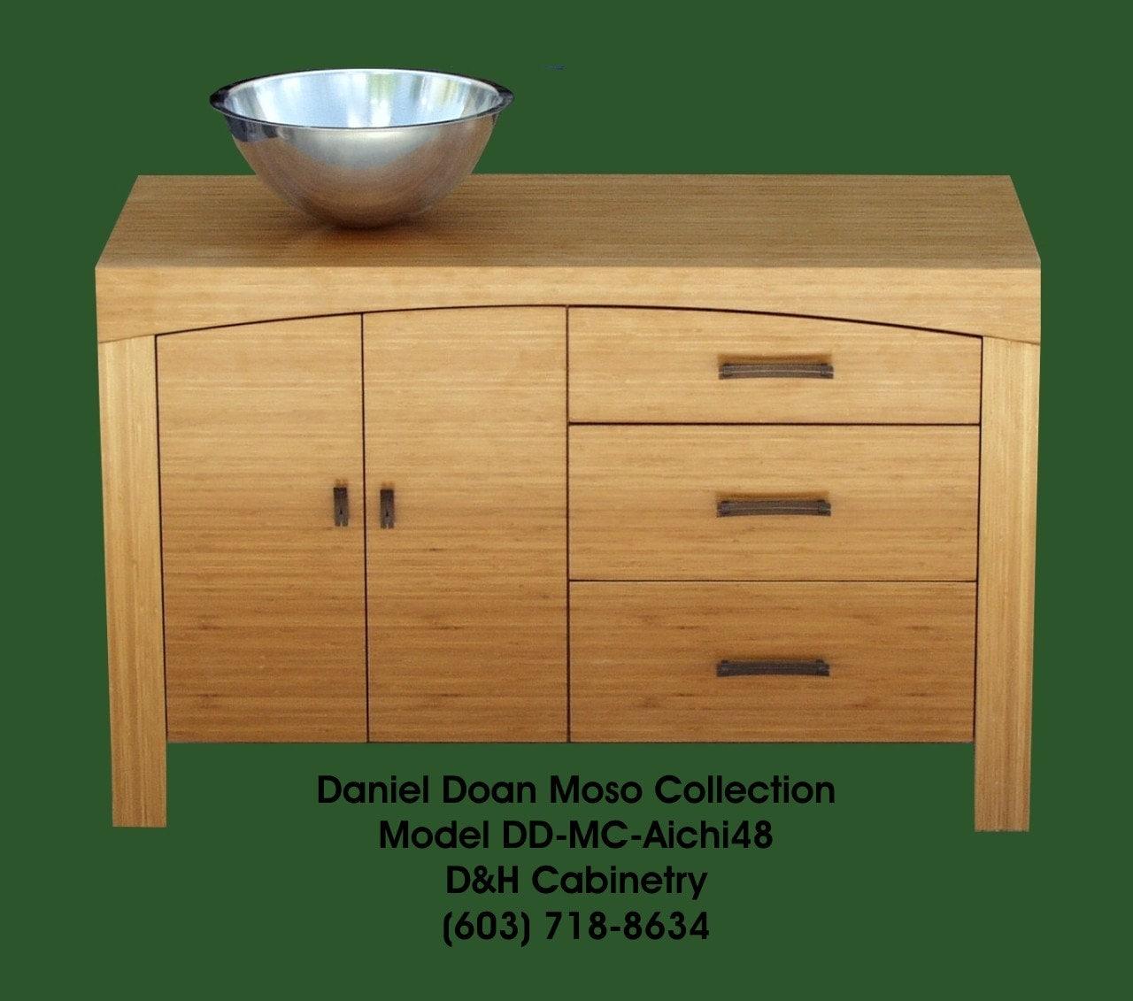 48 Modern Bamboo Bathroom Vanity 3 4 Solid By Dandhcabinetry