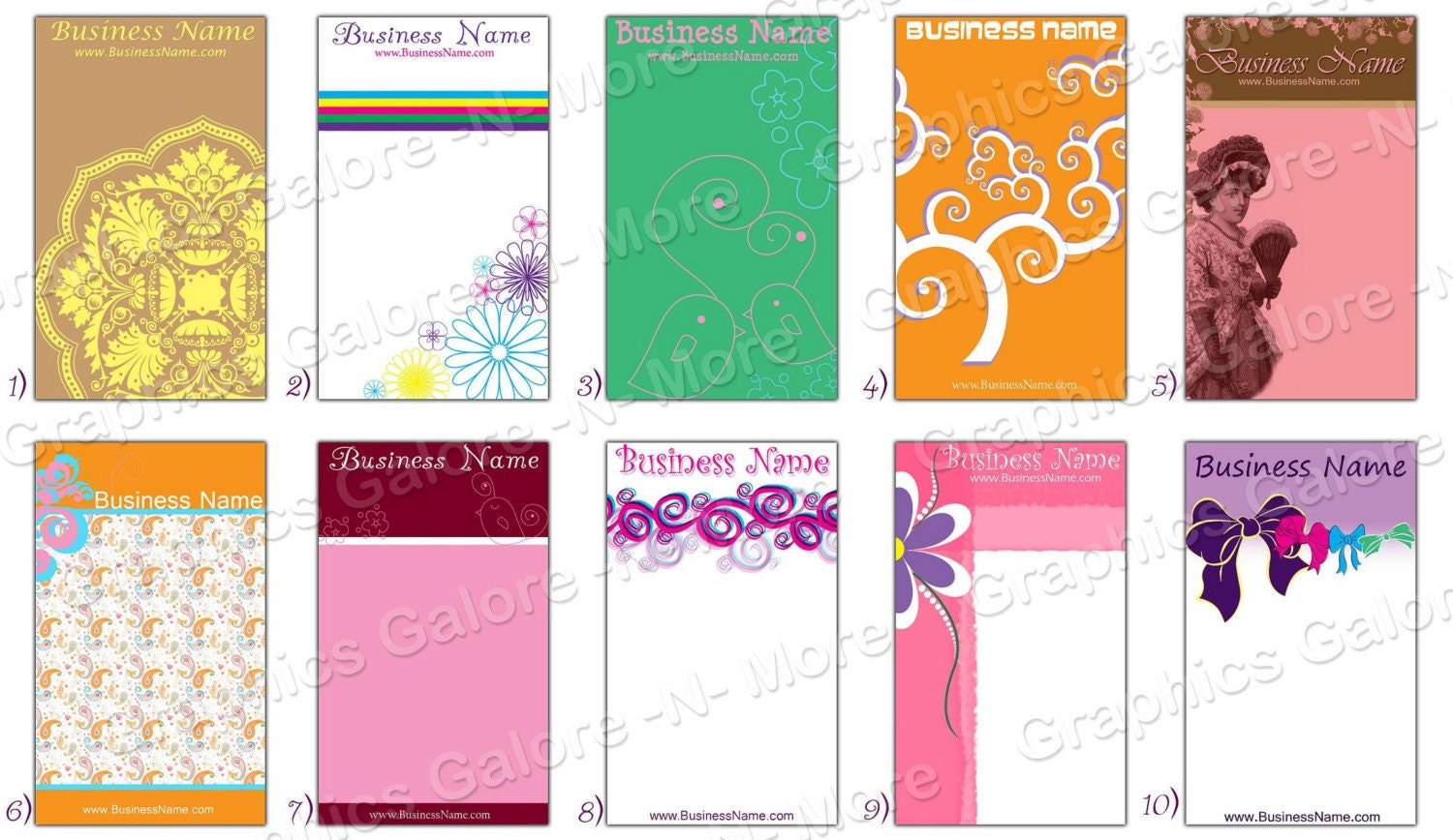 hair bow display cards print your own buy by