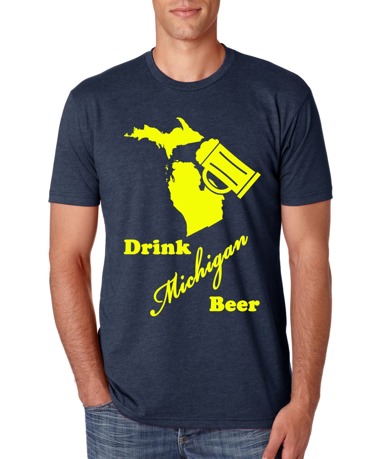 Drink Local Michigan Craft Beer MI Great Lakes State TShirt