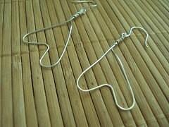Ellen Wire Wrap Earrings  Fine Silver Wire Earrings