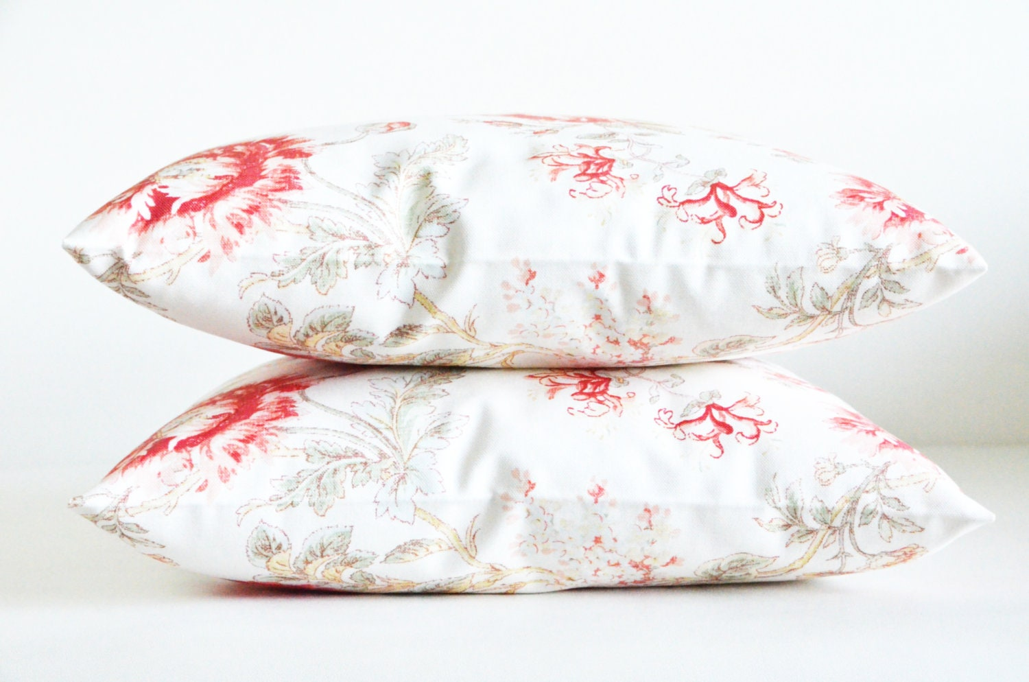 cotton floral lace pillows white red rose decorative modern patterned flowering roses garden home bedroom decor 18x18 inches pillows - sestras