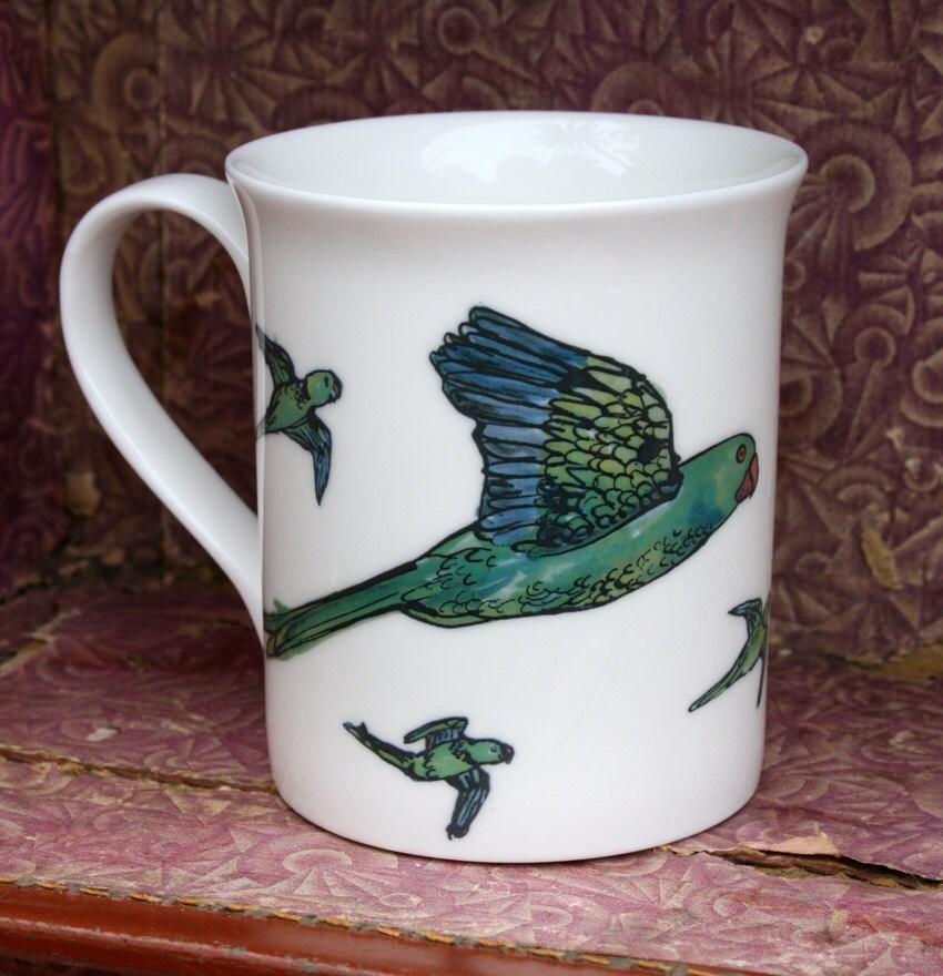 Parakeets Mug