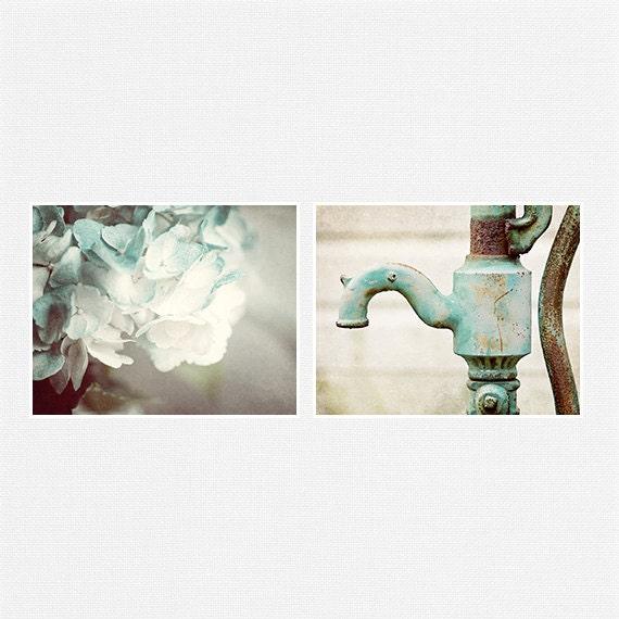 Teal Print Set Bathroom Decor Bathroom Art Set By LisaRussoFineArt