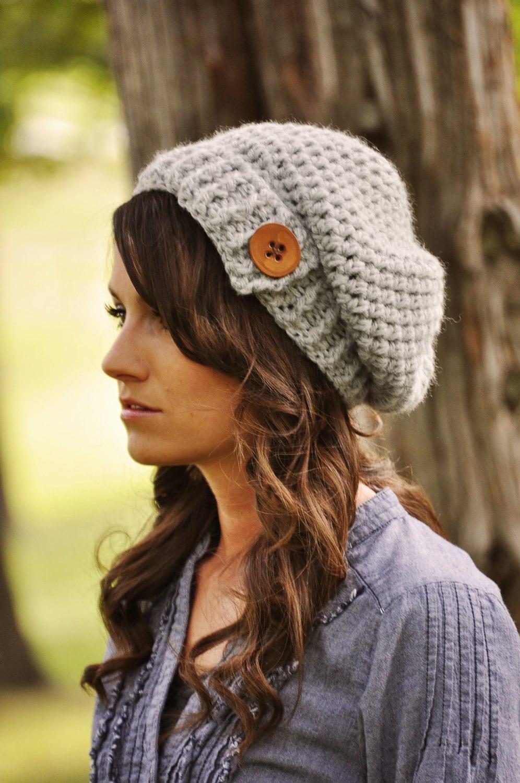Womens Slouchy Hat Crochet Hat Womens by SimplyMadeByErin ...