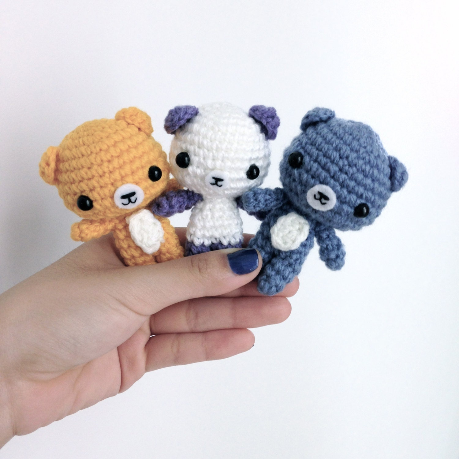 Amigurumi Baby Shower Bears : Items similar to Crochet Bear Amigurumi Teddy Bear ...