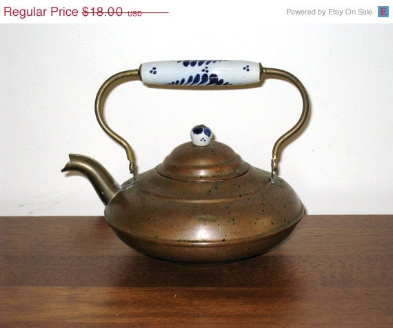 Small Vintage Copper Tea For One Teapot W By Cookiegrandma60