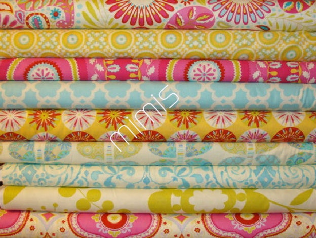 1 4 yard bundle dena designs fabric kumari garden by for Dena designs kumari garden