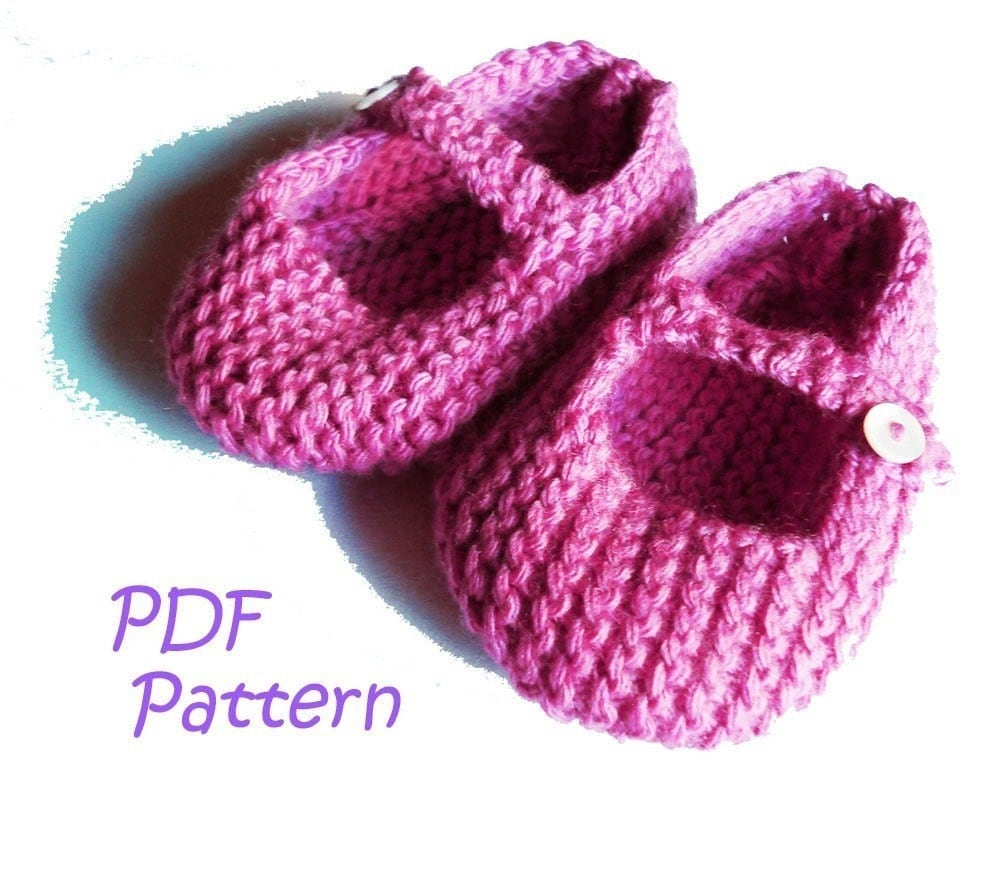 Mary Jane Booties Knitting Pattern