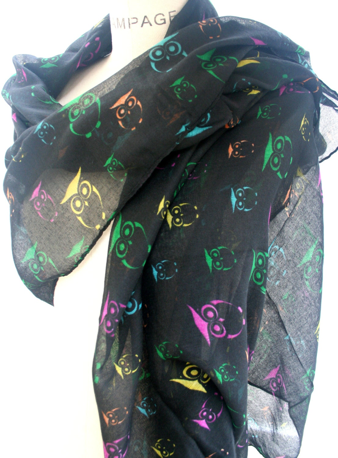 owl scarf best selling items scarf multicolor by piyoyo